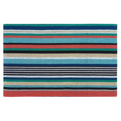 Farmhouse Stripe Hand Woven Red/Green Indoor/Outdoor Area Rug Rug Size: 2 x 3