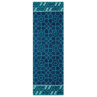 Fortissimo Hand Tufted Navy Area Rug Rug Size: Runner 26 x 8