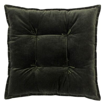 Talia Velvet Throw Pillow Color: Loden