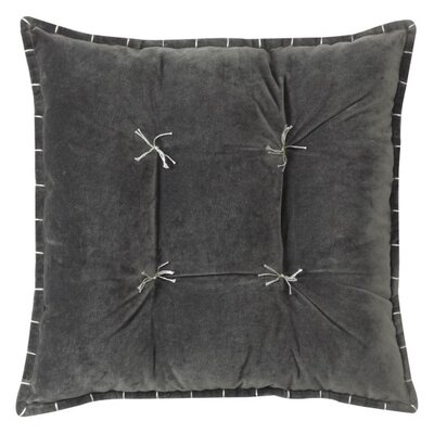 Talia Velvet Throw Pillow Color: Gray