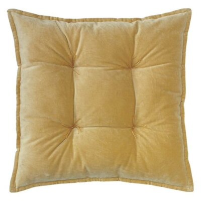 Talia Velvet Throw Pillow Color: Camel
