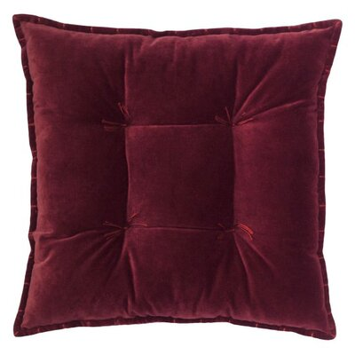 Talia Velvet Throw Pillow Color: Burgundy