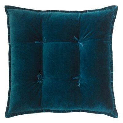 Talia Velvet Throw Pillow Color: Teal