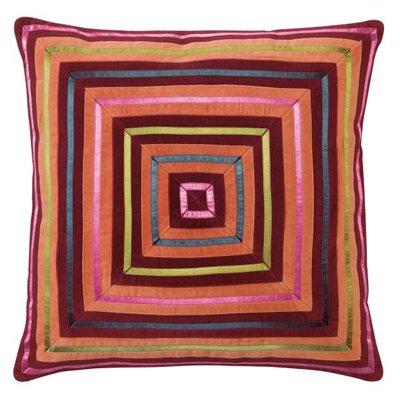 Zoe Throw Pillow Color: Burgundy
