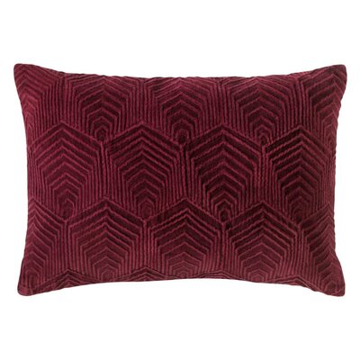 Sloan Velvet Lumbar Pillow Color: Burgundy