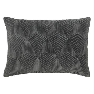 Sloan Velvet Lumbar Pillow Color: Gray