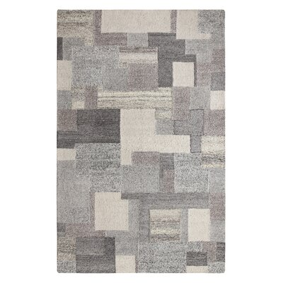 Dunagan Hand Tufted Gray/Beige Area Rug Rug Size: Rectangle 56 x 86