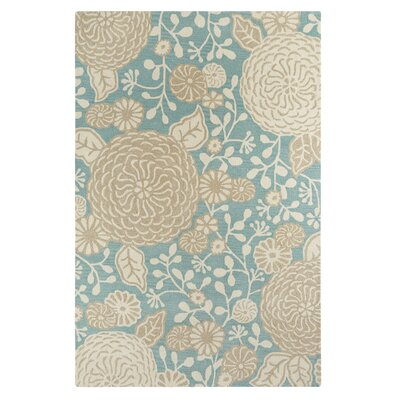 Kisling Blue/Beige Area Rug Rug Size: Rectangle 56 x 86