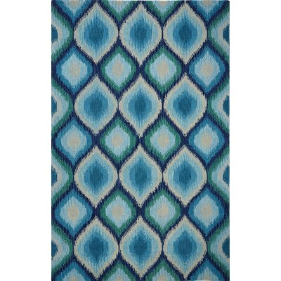 Overbeck Blue Area Rug Rug Size: Rectangle 86 x 126