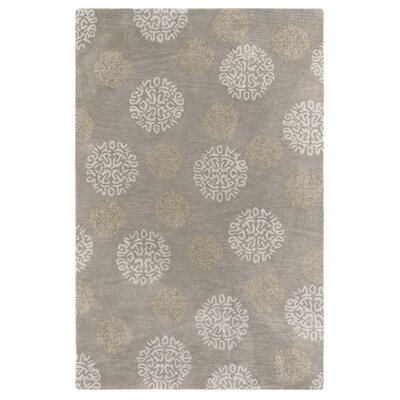 Kisling Gray Area Rug Rug Size: Rectangle 56 x 86