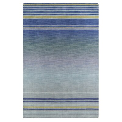 Carruthers Blue/Gray Area Rug Rug Size: Rectangle 56 x 86