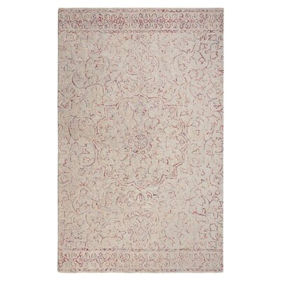 Gosnold Wheat/Carmine Area Rug Rug Size: Rectangle 86 x 126