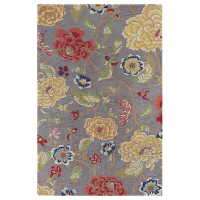 Corby Yellow/Red Area Rug Rug Size: Rectangle 86 x 126
