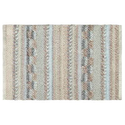 Sand Dune Hand-Woven Ivory/Light Blue Area Rug Rug Size: Rectangle 2 x 3