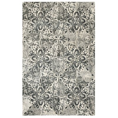 Stone Wall Hand-Tufted Black Area Rug Rug Size: Rectangle 5 x 8