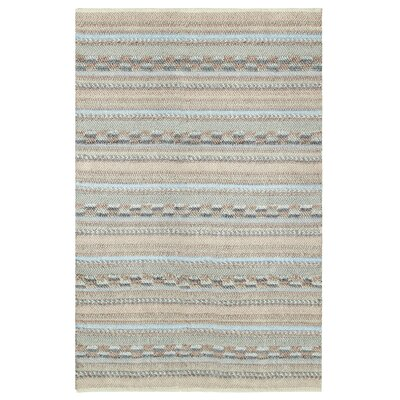 Sand Dune Hand-Woven Ivory/Light Blue Area Rug Rug Size: Rectangle 5 x 8