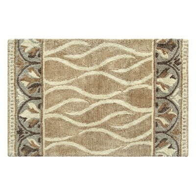 Caf� Au Lait Hand-Tufted Ivory/Gray Area Rug Rug Size: Rectangle 2 x 3
