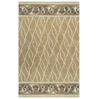 Caf� Au Lait Hand-Tufted Ivory/Gray Area Rug Rug Size: Rectangle 3 x 5