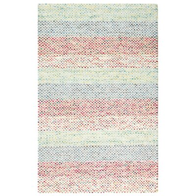 Sampler Stripe Hand-Woven Blue/Pink Indoor/Outdoor Area Rug Rug Size: Rectangle 9 x 13