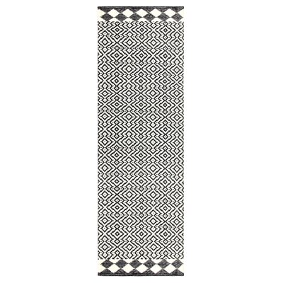 Odeon Hand-Woven Black Indoor/Outdoor Area Rug Rug Size: Runner 26 x 8