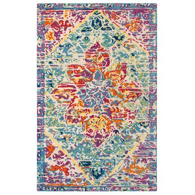 Rhapsody Hand-Tufted Pink/Blue Area Rug Rug Size: Rectangle 5 x 8