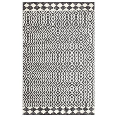 Odeon Hand-Woven Black Indoor/Outdoor Area Rug Rug Size: Rectangle 5 x 8