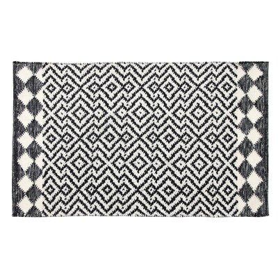 Odeon Hand-Woven Black Indoor/Outdoor Area Rug Rug Size: Rectangle 2 x 3