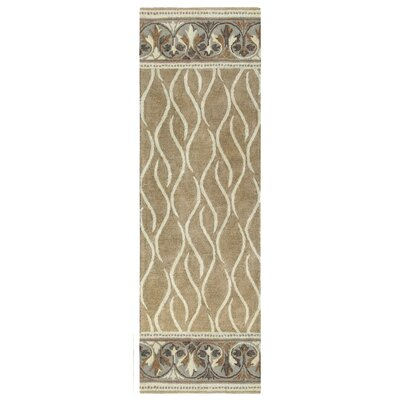 Caf� Au Lait Hand-Tufted Ivory/Gray Area Rug Rug Size: Rectangle 26 x 8