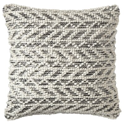 Herringbone Berber Indoor/Outdoor Throw Pillow Color: Black