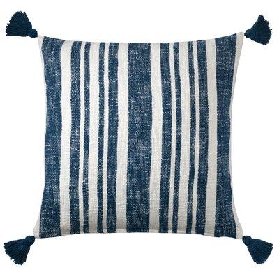 Denim Stripe Cotton Throw Pillow