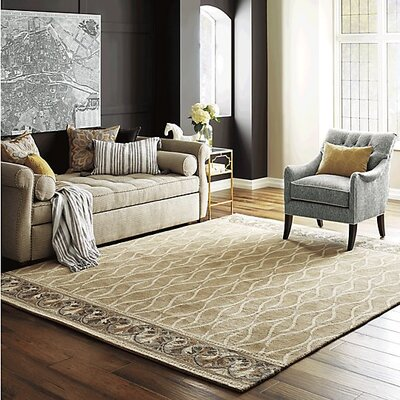 Caf� Au Lait Hand-Tufted Ivory/Gray Area Rug Rug Size: Rectangle 5 x 8
