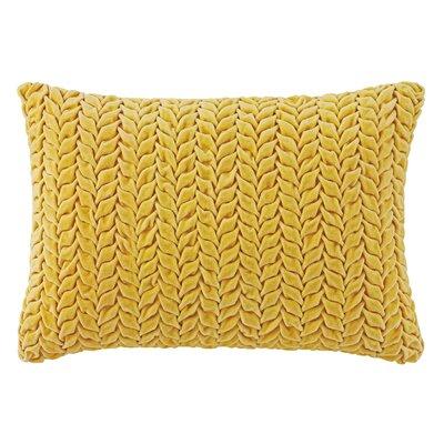 Braided Velvet Lumbar Pillow Color: Dijon