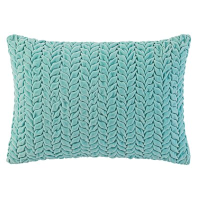 Braided Velvet Lumbar Pillow Color: Lake