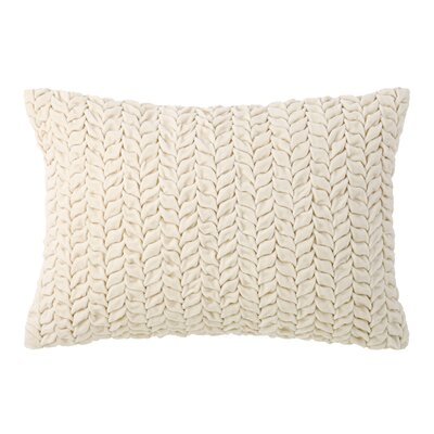 Braided Velvet Lumbar Pillow Color: Oyster
