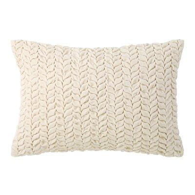 Braided Velvet Lumbar Pillow Color: Oyster