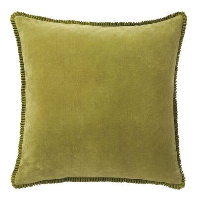 Larissa Velvet Throw Pillow Color: Grass