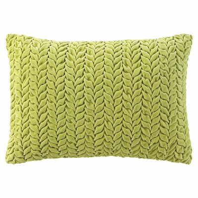 Braided Velvet Lumbar Pillow Color: Willow