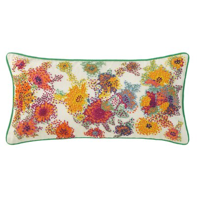 French Knot Floral Lumbar Pillow