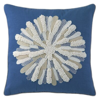 Asters Cotton Throw Pillow Color: Blue