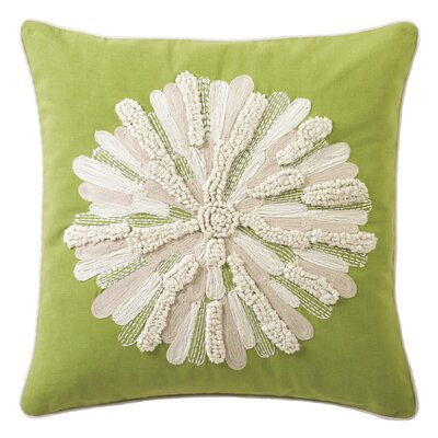 Asters 100% Cotton Throw Pillow Color: Lime