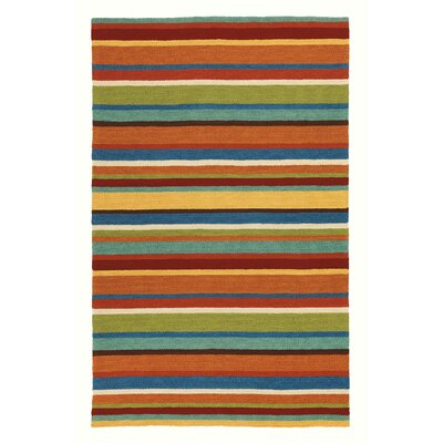 Cabana Stripe Orange Indoor/Outdoor Area Rug Rug Size: Rectangle 8 x 10