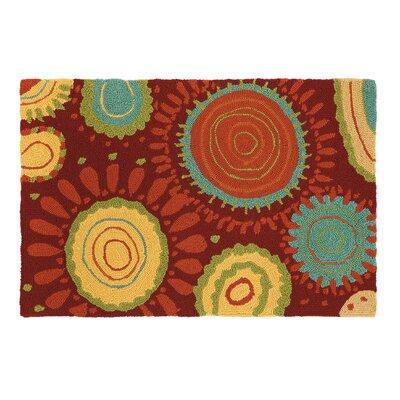 Sundew Crimson Indoor/Outdoor Area Rug Rug Size: 2 x 3