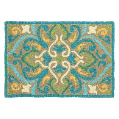 Morocco Aqua Indoor/Outdoor Area Rug Rug Size: Rectangle 2' x 3'