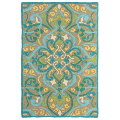 Morocco Aqua Indoor/Outdoor Area Rug Rug Size: 36 x 56