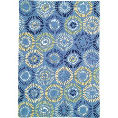 Dandelion Cornflower Rug Rug Size: Rectangle 8 x 11