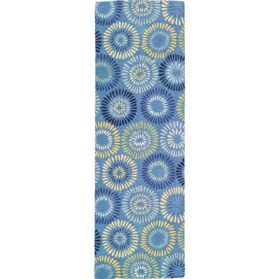 Dandelion Cornflower Rug Rug Size: Runner 26 x 8