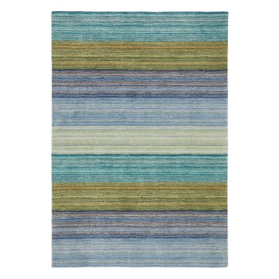 Brushstroke Blue Rug Rug Size: Rectangle 9 x 13