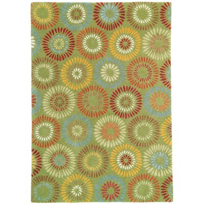 Dandelion Green Rug Rug Size: Rectangle 8 x 11