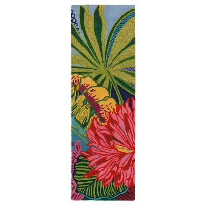 Captiva Green / Red Area Rug Rug Size: Runner 26 x 8