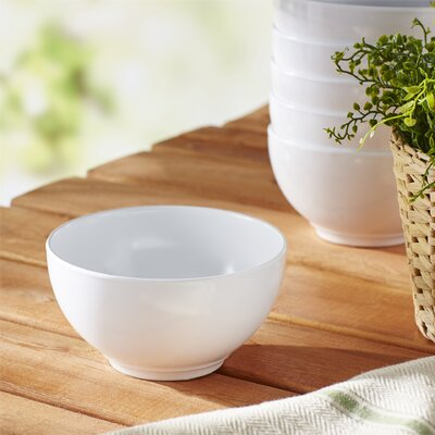 Reston Lloyd Calypso Basics Melamine Bowl in White (Set of 6)